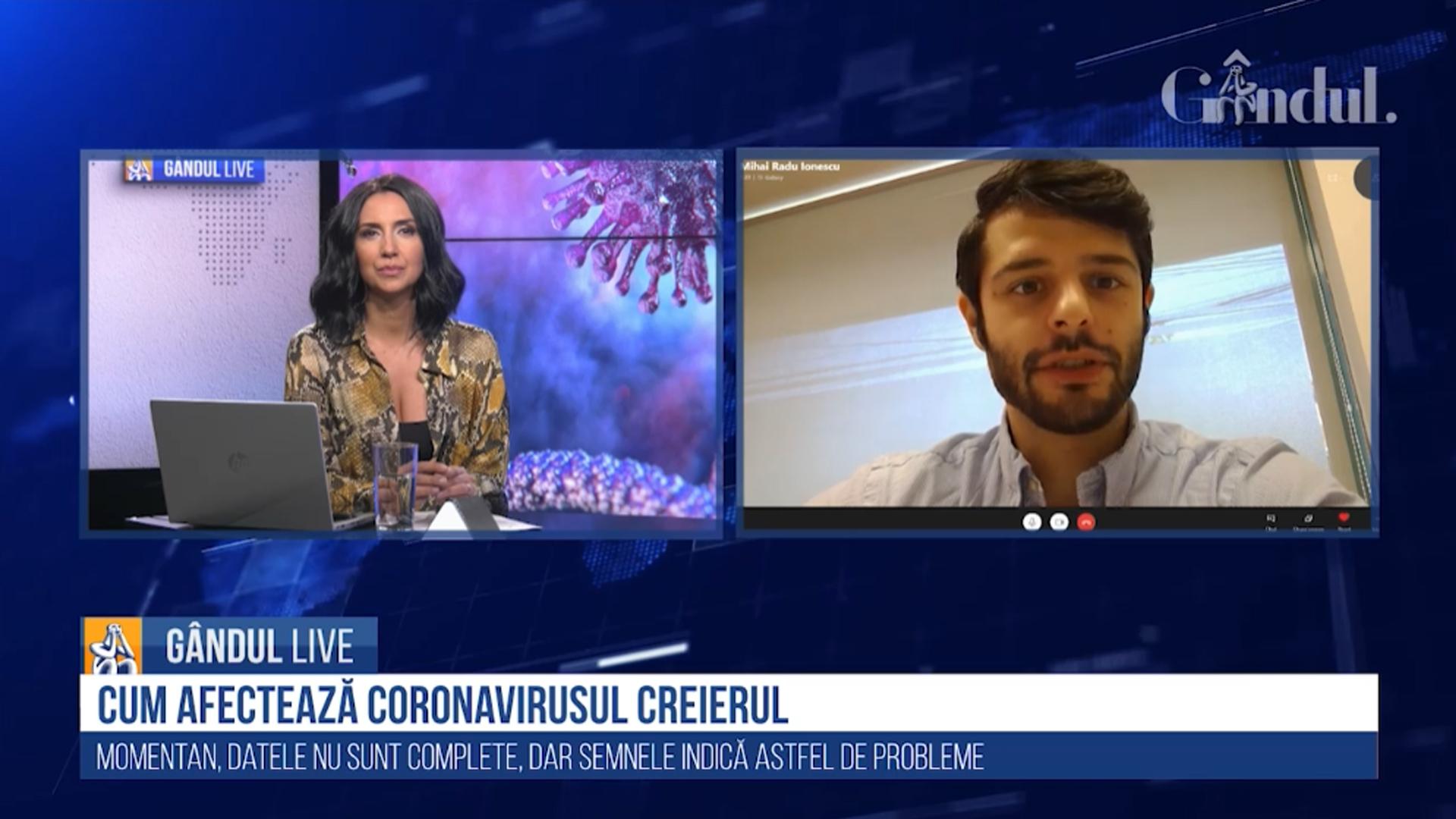 Gândul Live: Cum afectează coronavirusul creierul? Neurologul Mihai Ionescu